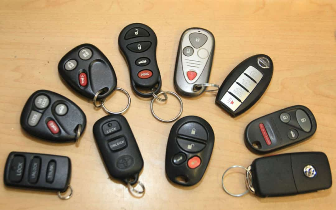 image of a variety of vehicle key fobs