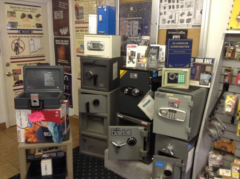 image of safes in the SKH Locksmith showroom