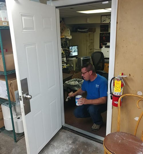 image of a new interioroffice door installed in a local Richboro business